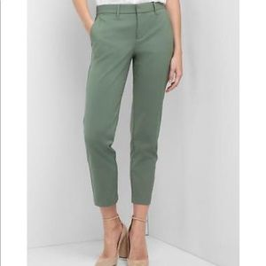 Gap Slim Crop Pants Cool Olive